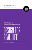 Image: A picture of the cover of Design for Real Life by Eric Meyer and Sara Wachter-Boettcher
