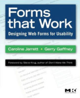 Forms that Work by Caroline Jarrett & Gerry Gaffney