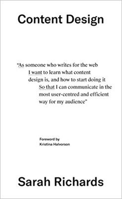 Cover of Content Design by Sarah Richards