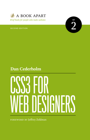 Cover of CSS3 for Web Designers by Dan Cederholm