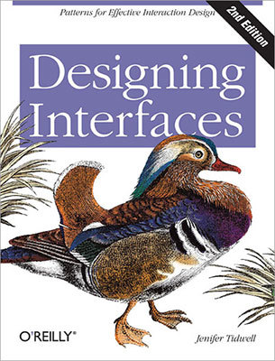 Cover of Designing Interfaces by Jenifer Tidwell