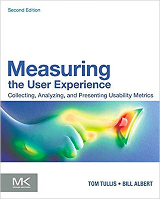 Cover of Measuring the User Experience by Tom Tullis & William Albert
