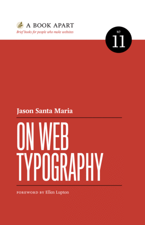 Cover of On Web Typography by Jason Santa Maria