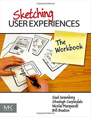 Cover of Sketching User Experiences: The Workbook by Saul Greenberg, Sheelagh Carpendale, Nicolai Marquardt, & Bill Buxton