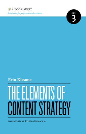 Cover of The Elements of Content Strategy by Erin Kissane