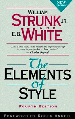 Cover of The Elements of Style by William Strunk, Jr. & E.B. White
