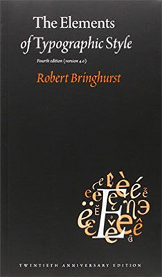 Cover of The Elements of Typographic Style by Robert Bringhurst