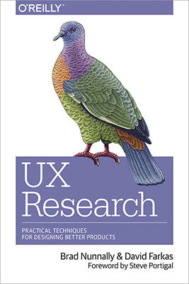 Cover of UX Research by Brad Nunnally & David Farkas