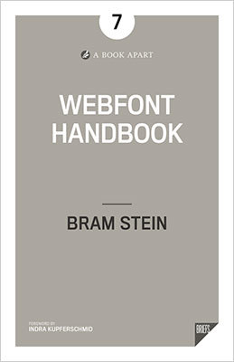 Cover of Webfont Handbook by Bram Stein